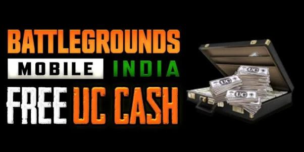 Free UC Cash In Battleground Mobile India
