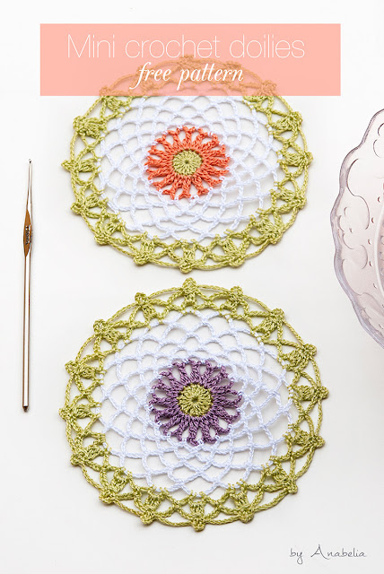 Anabelia Craft Design 15 Minutes Made Crochet Doilies Free Pattern