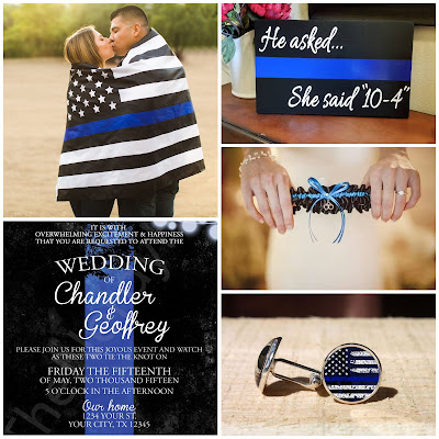 Thin Blue Line Wedding Pinterest Inspiration