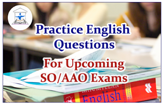 English Questions (Cloze Test) for Upcoming AAO/SO Exams