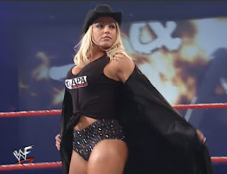 WWE / WWF - Armageddon 2000 - Trish Stratus faced Molly Holly and Ivory in a three-way for Ivory's women's championship