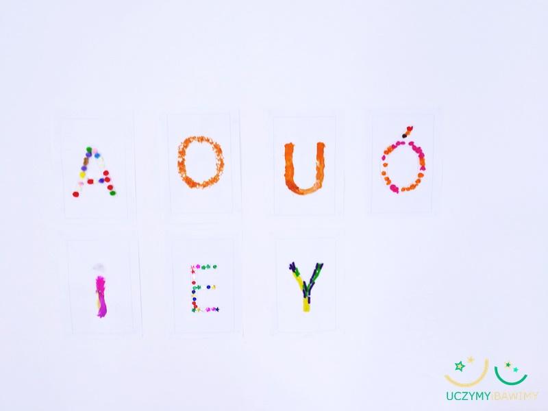litery a dziecko