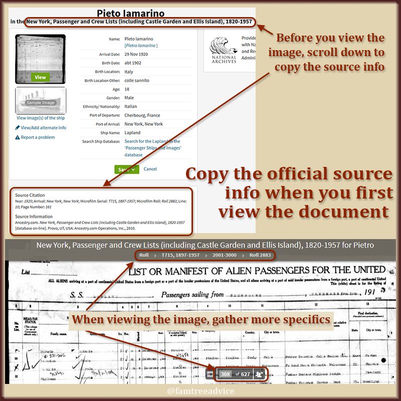 The source citation details you need are available when you find that document online.