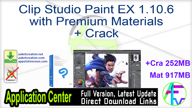 Clip Studio Paint EX 1.10.6 with Premium Materials + Crack