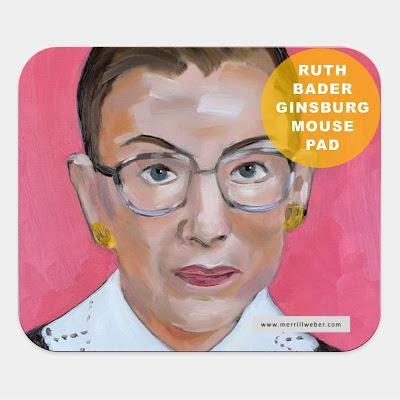 ruth-bader-ginsburg-oil-painting-mousepad-merrill-weber
