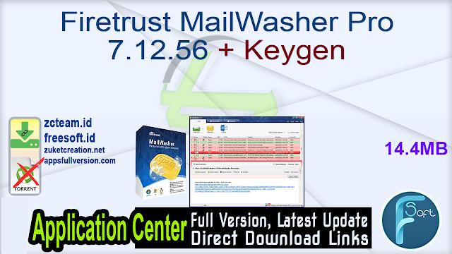 Firetrust MailWasher Pro 7.12.56 + Keygen_ ZcTeam.id