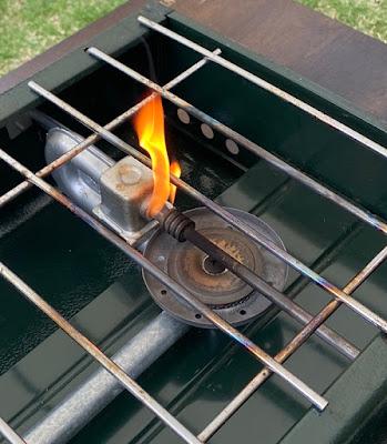 パワーハウス414 ミキシングチューブから炎が出ている
