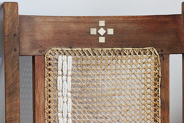 Thrifty Thursday Upcycled Antique Rattan Chair