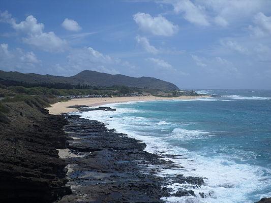 sandy beach praia havai