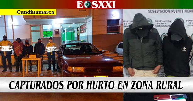 5 hombres hurtando a pie y en vehículo fueron capturados en flagrancia