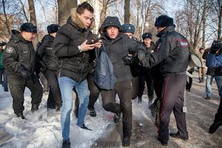 Как в Уфе прошел не согласованный митинг Навального