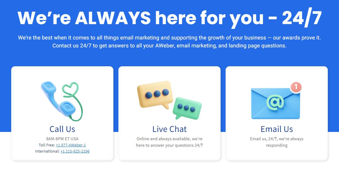 مراجعة برنامج التسويق عبر البريد الإلكتروني AWeber
