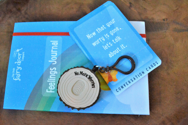 feelings journal and mini worry plaque