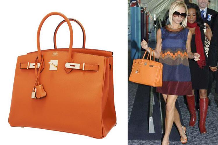 46c92ef4aee A Birkin da Hermès é uma das bolsas mais elegantes usadas pelas famosas. A  cor principal é a laranja
