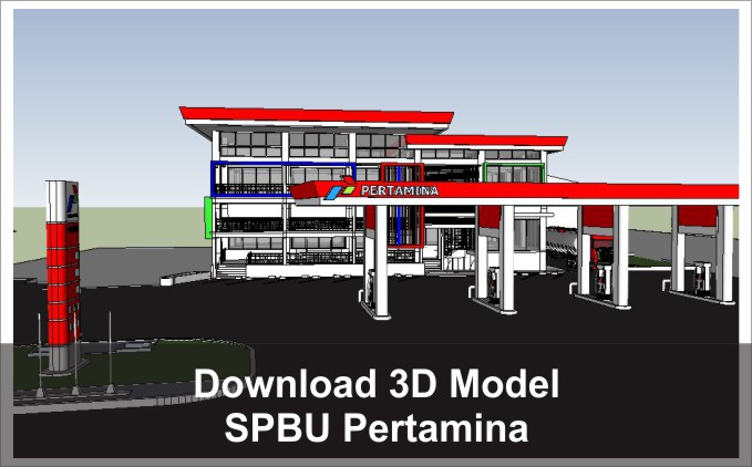 download 3d spbu pertamina pom bensin