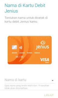 daftar jenius untuk kartu debit