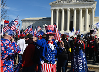 Angry Trump supporters march in Washington over US election results