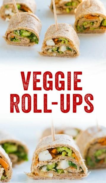 Hummus and Veggie Roll-Ups