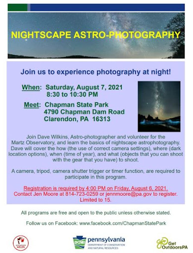 8-7 Chapman State Park Astro-Photography