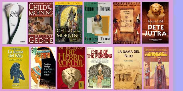 portadas de la novela histórica La dama del Nilo, de Pauline Gedge