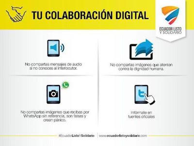 4 normas para utilizar los medios digitales en Sismo de Ecuador