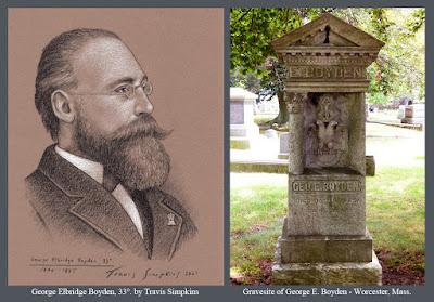 George Elbridge Boyden, 33°. Scottish Rite Valley of Worcester, Massachusetts. by Travis Simpkins