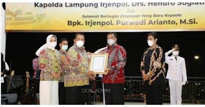 Gubernur Lampung Ajak Kapolda Birsinergi Bersama Membangun Daerah