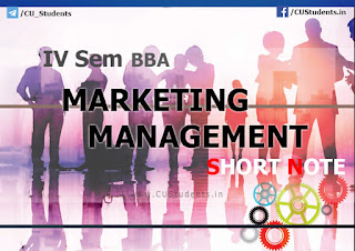 IV Sem BBA Marketing Management - Short note