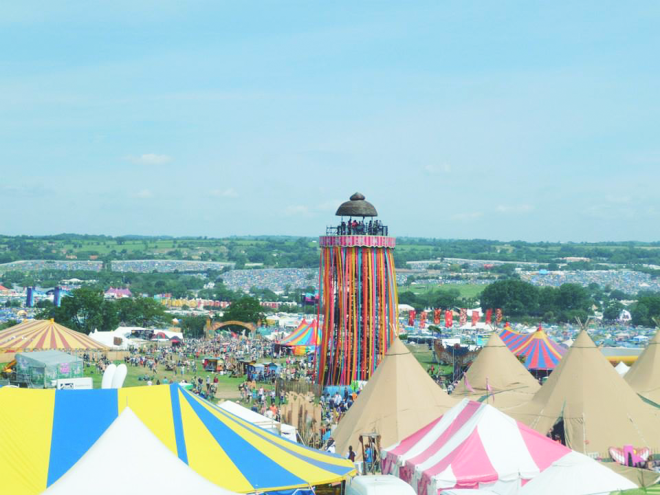 Glastonbury Festival View
