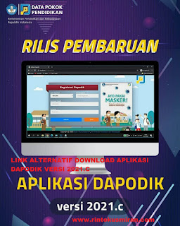 LINK ALTERNATIF DOWNLOAD APLIKASI DAPODIK VERSI 2021.C