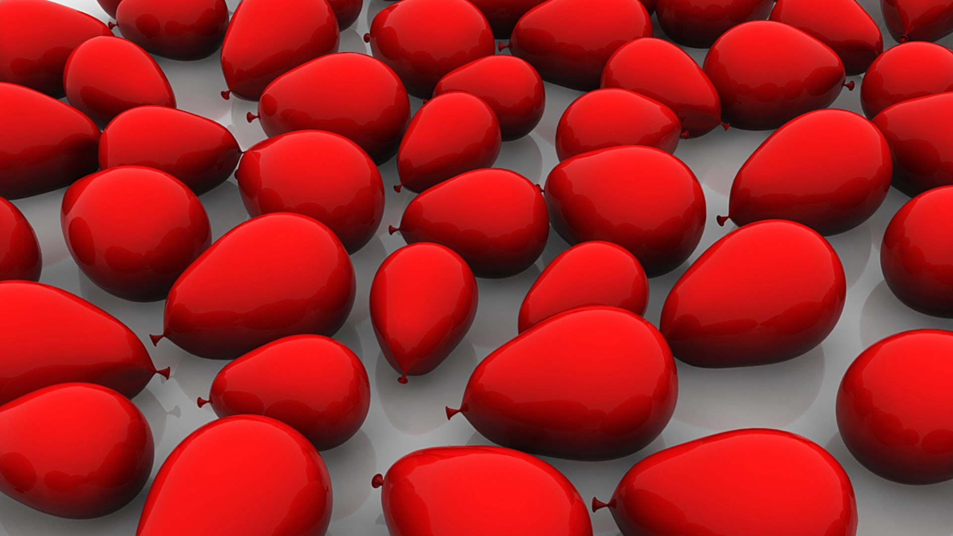Red Balloons on Floor HD Background