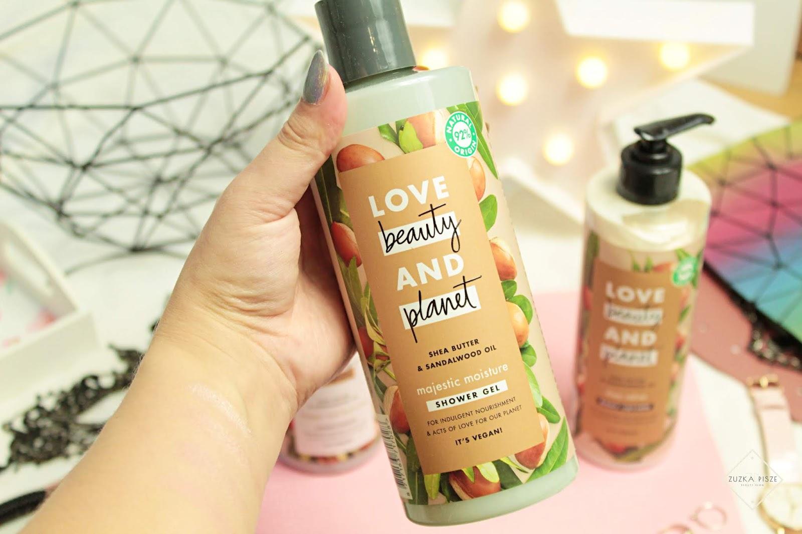 Love Beauty & Planet Odżywczy żel pod prysznic z masłem shea i olejkiem z drzewa sandałowego