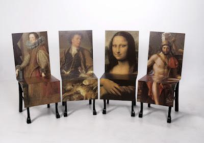 Diseño de sillas con pinturas clásicas