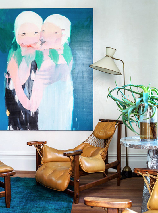 DECOR TREND: Large scale wall art | Photo by Sean Fennessy via The Design Files