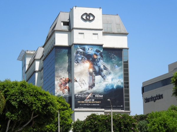 Giant Pacific Rim movie billboard