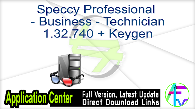 Speccy Professional – Business – Technician 1.32.740 + Keygen