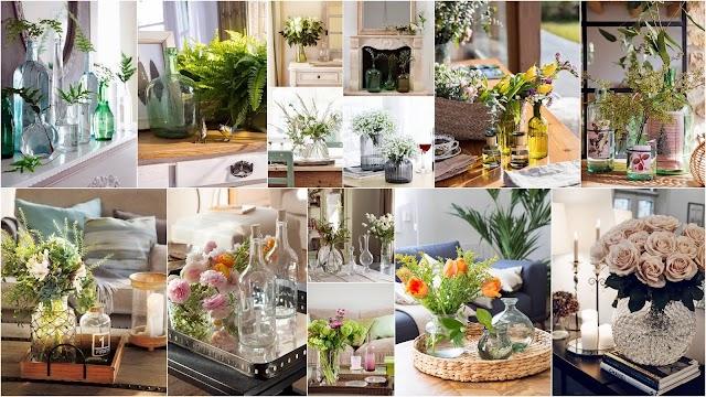 """Λουλούδια και γυάλινα βάζα. Το πιο φυσικό και όμορφο """"διακοσμητικό"""" για κάθε χώρο"""