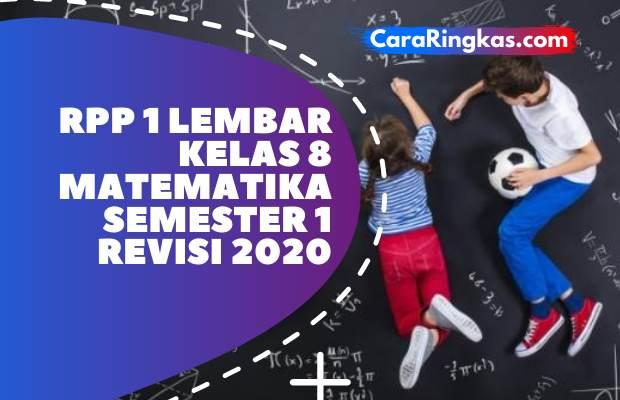 RPP 1 Lembar Matematika Kelas 8