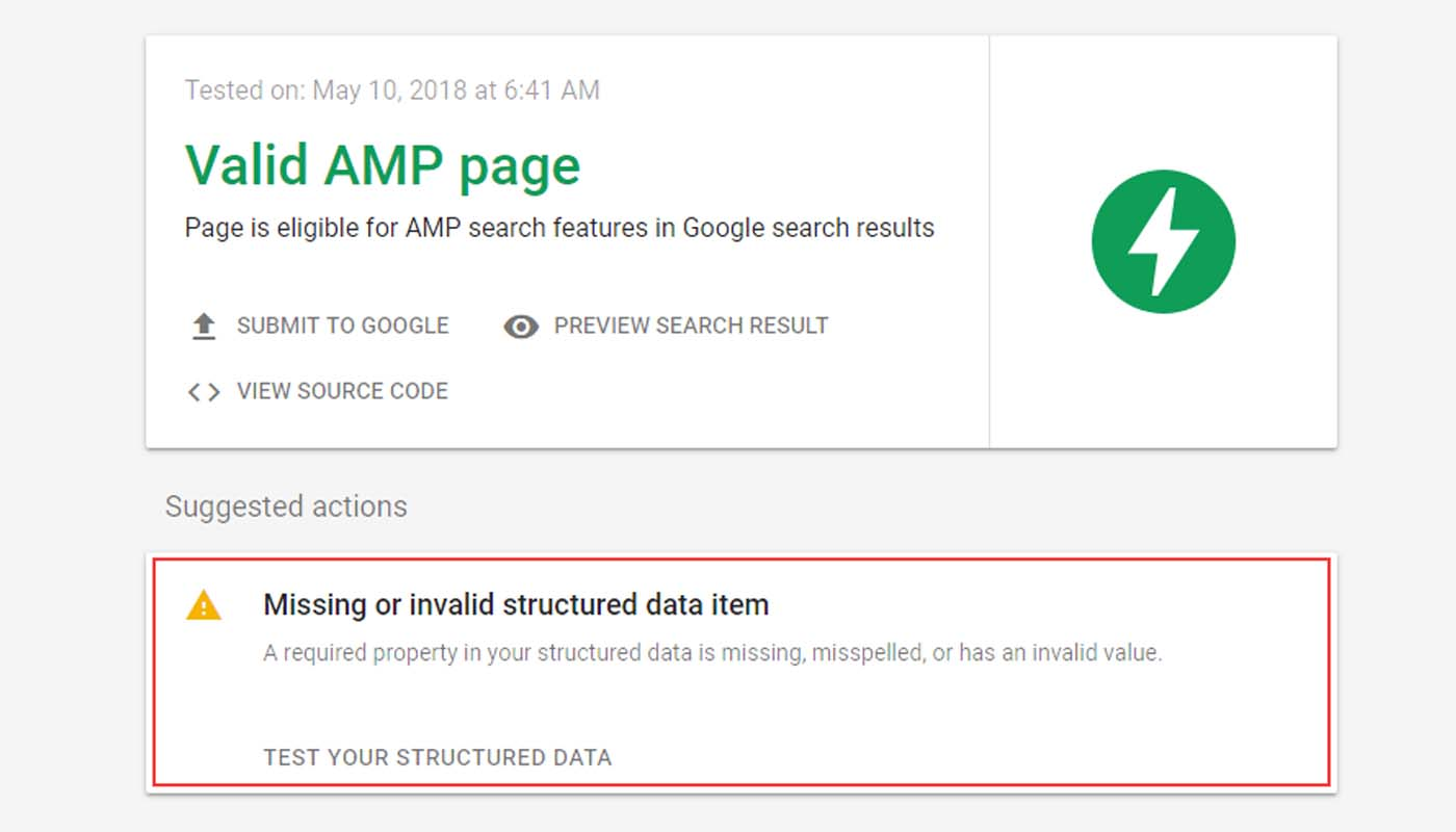 Memperbaiki Item Data Terstruktur Tidak Ada Atau Tidak Valid Pada AMP HTML