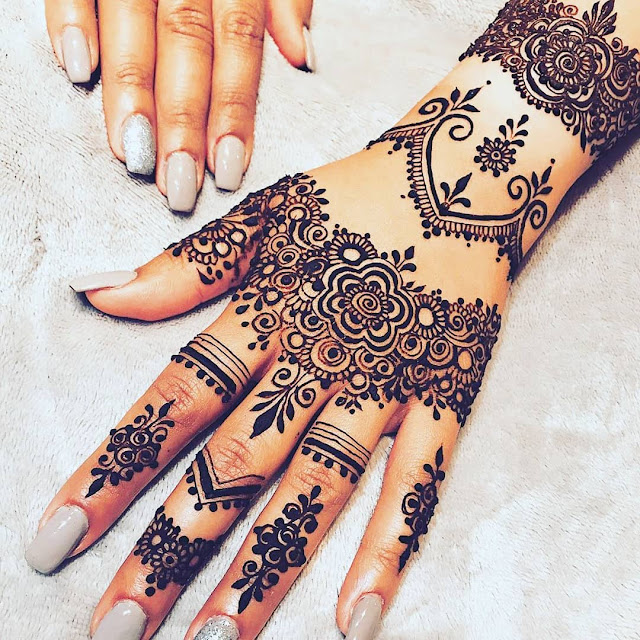simple arabic mehndi designs images for hands