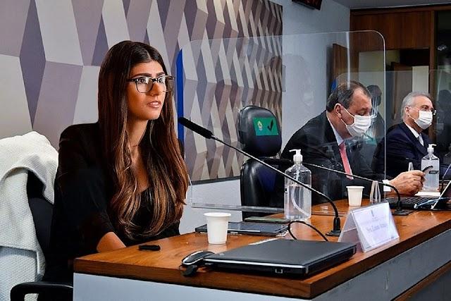 Mia Khalifa 'presta depoimento' na CPI da Covid: 'Uma mulher do povo'