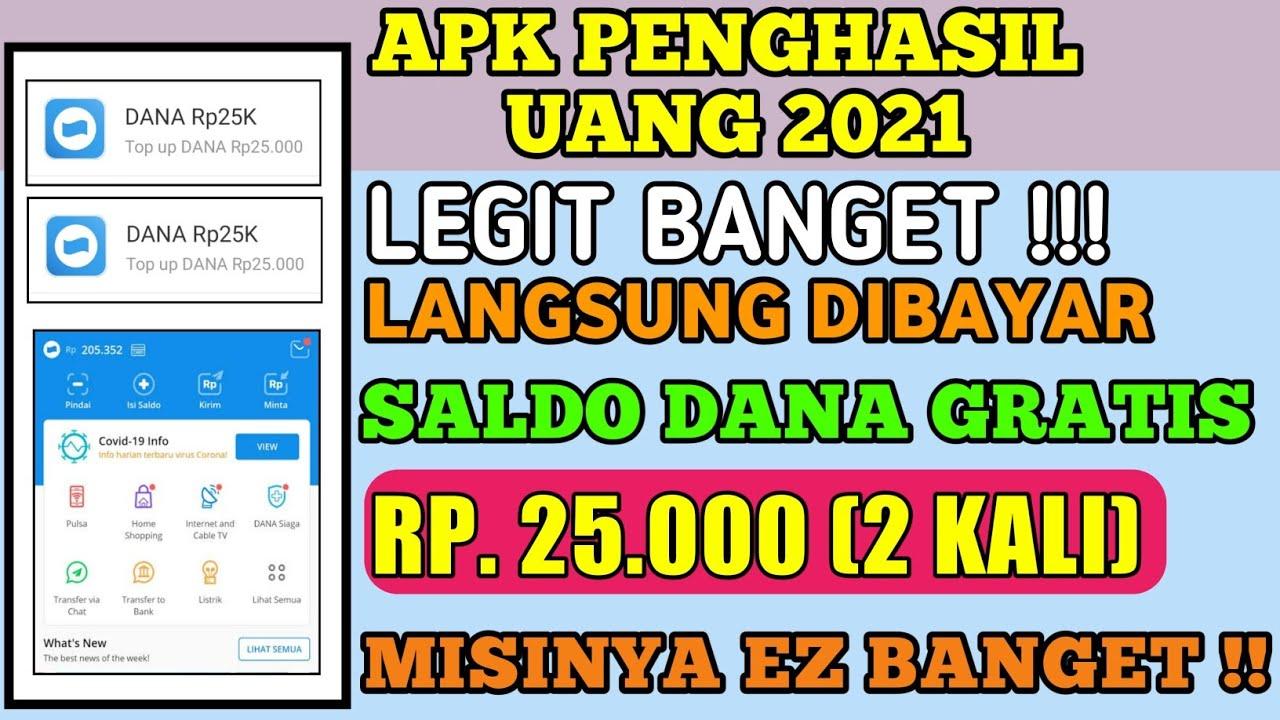 Apk Penghasil Saldo DANA Terlegit 2021