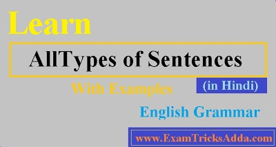 All Types of Sentences With Examples - English Grammar
