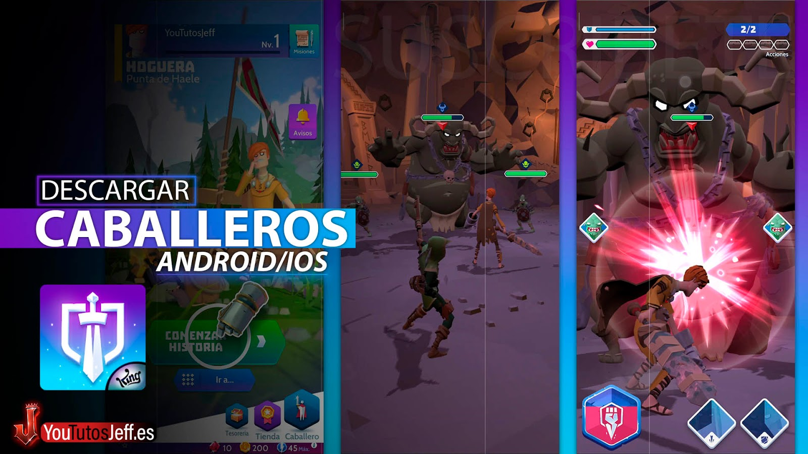 Llegan los Caballeros de la Furia, Descargar Knighthood para Android o iOS