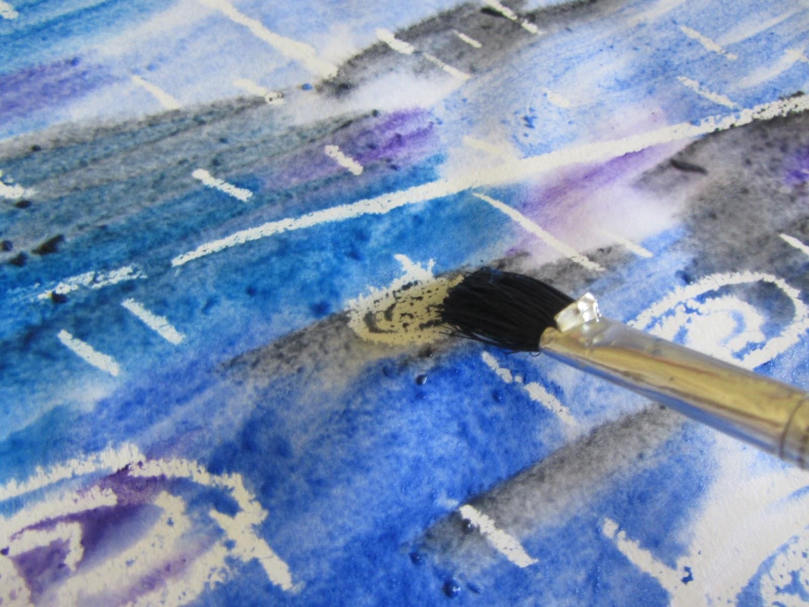 Rainy Day Wax Resist Easy peasy art tutorial