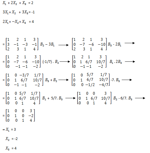 Contoh Soal Eliminasi Gauss Jordan Dan Penyelesaiannya Kumpulan Soal Pelajaran 3