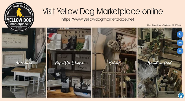 Annie Lang's day out browsing shops at Yellow Dog Marketplace in Clarkston, Michigan