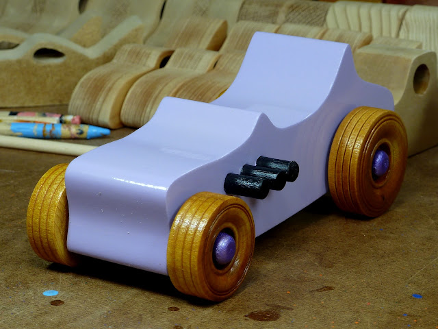 Handmade Wooden Toy Car Hot Rod Ford 27 T-Bucket