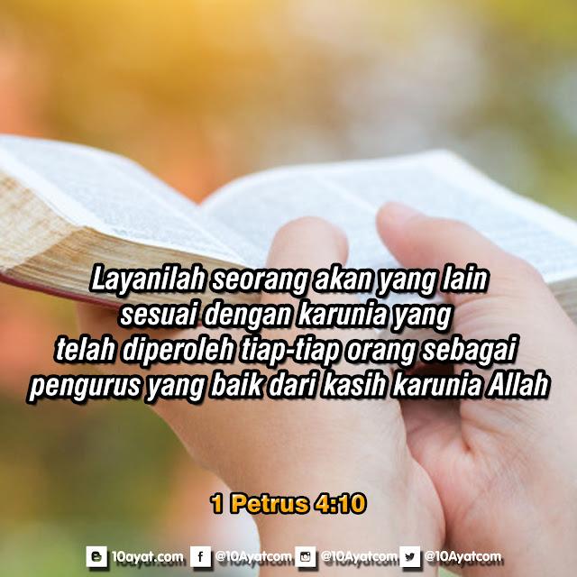 1 Petrus 4:10