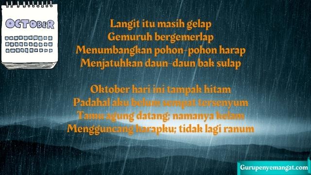 Puisi Oktober Hitam